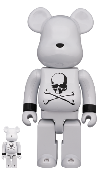 BE@RBRICK Mastermind Japan White Chrome Ver. 400% & 100% Limited (Pre-Order)