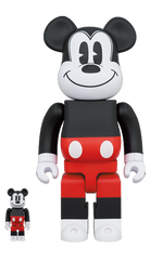 BE@RBRICK MICKEY MOUSE R&W 2020 Ver. 100% & 400% (Pre-order)