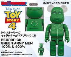 Be@rbrick Toy Story 4 Be@rbrick Green Army Men 100% & 400% (Pre-order)