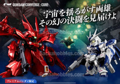 FW GUNDAM CONVERGE CORE Hi-ν Gundam & Nychan Gael Metric Color ver. Limited (Pre-order)