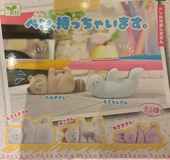 Velvet Animal Pen Holder Mini Figure 5 Pieces Set (In-stock)