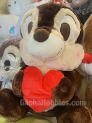 Disney Chip 'n' Dale Furry Chip Hugs Heart Plush (In-stock)
