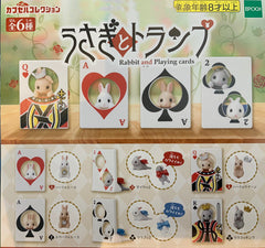 Rabbit and Playing Cards Mini Figure 6 Pieces Set (In-stock)
