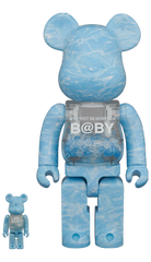 MY FIRST BE@RBRICK B@BY WATER CREST Ver.100% & 400% Limited (Pre-order)
