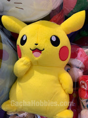 Pokemon Pikachu Sitting and Pretending to be Cute Plush (In-stock)