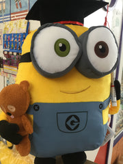 Graduation Minion Bob with Teddy Bear