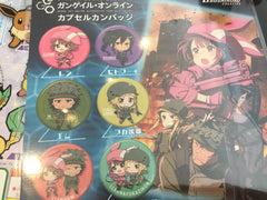 "Sword Art Online Alternative ""Gun Gale Online"" Pins Set"