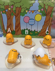 Gashapon Gudetama Clear Base Figure Set (In-stock)