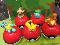 Pokemon Figures Sitting on Pokeball (In stock now)
