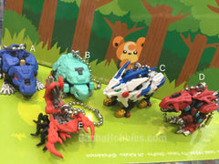Zoids Figure Keychain 5 Pieces Set (In-stock)