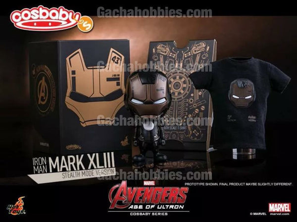 Exclusive Hottoys Cosbaby Averger Age of Ultron Ironman Mark XLIII Stealth Mode (Pre-order)