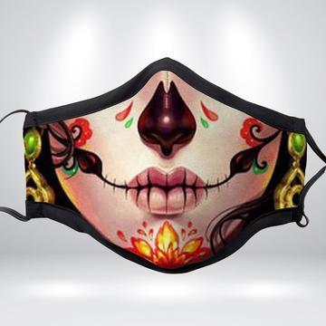 FLORAL SKULL Fabric Face Mask Collections