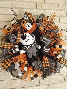 Halloween Wreath Nightmare Before Christmas Wreath