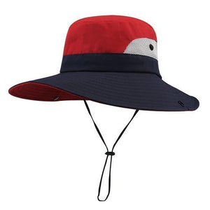 red summer hat for women