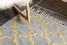 Load image into Gallery viewer, Dove grey dhurrie Rug