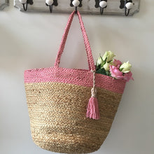 Load image into Gallery viewer, Pink topped basket bag