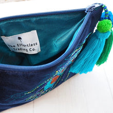 Load image into Gallery viewer, Velvet Peacock pouch bag