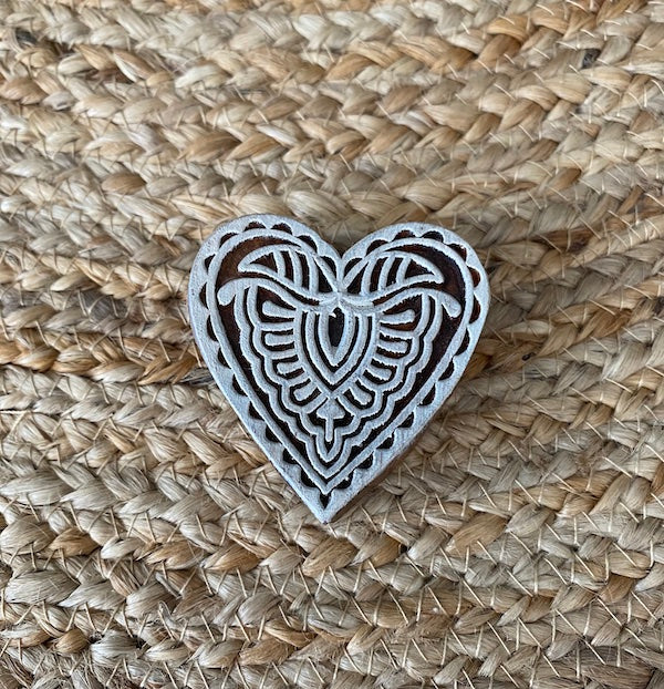 small heart wood block