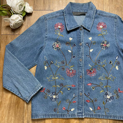 VINTAGE JEAN BUTTON-UP