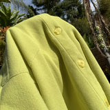 VINTAGE FADDED LIME GREEN BUTTON-UP
