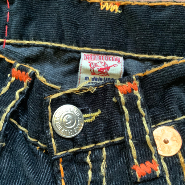 THRIFTED TRUE RELIGION CORDUROY JEANS