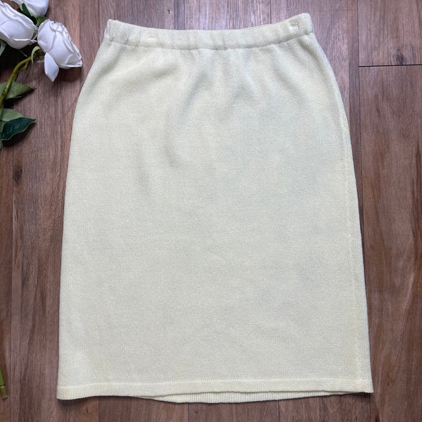 VINTAGE BUTTER YELLOW PENCIL SKIRT