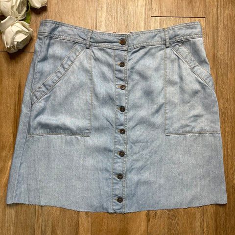 VINTAGE JEAN BUTTON-UP SKIRT