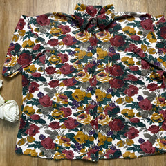 VINTAGE FLORAL BUTTON-UP