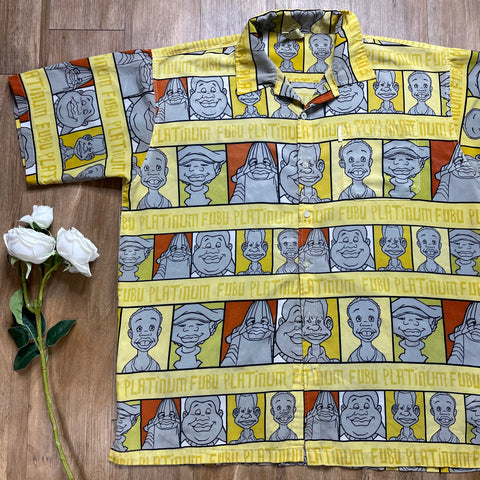 VINTAGE FUBU FAT ALBERT BUTTON-UP