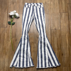 THRIFTED STRIPED BELL BOTTOMS