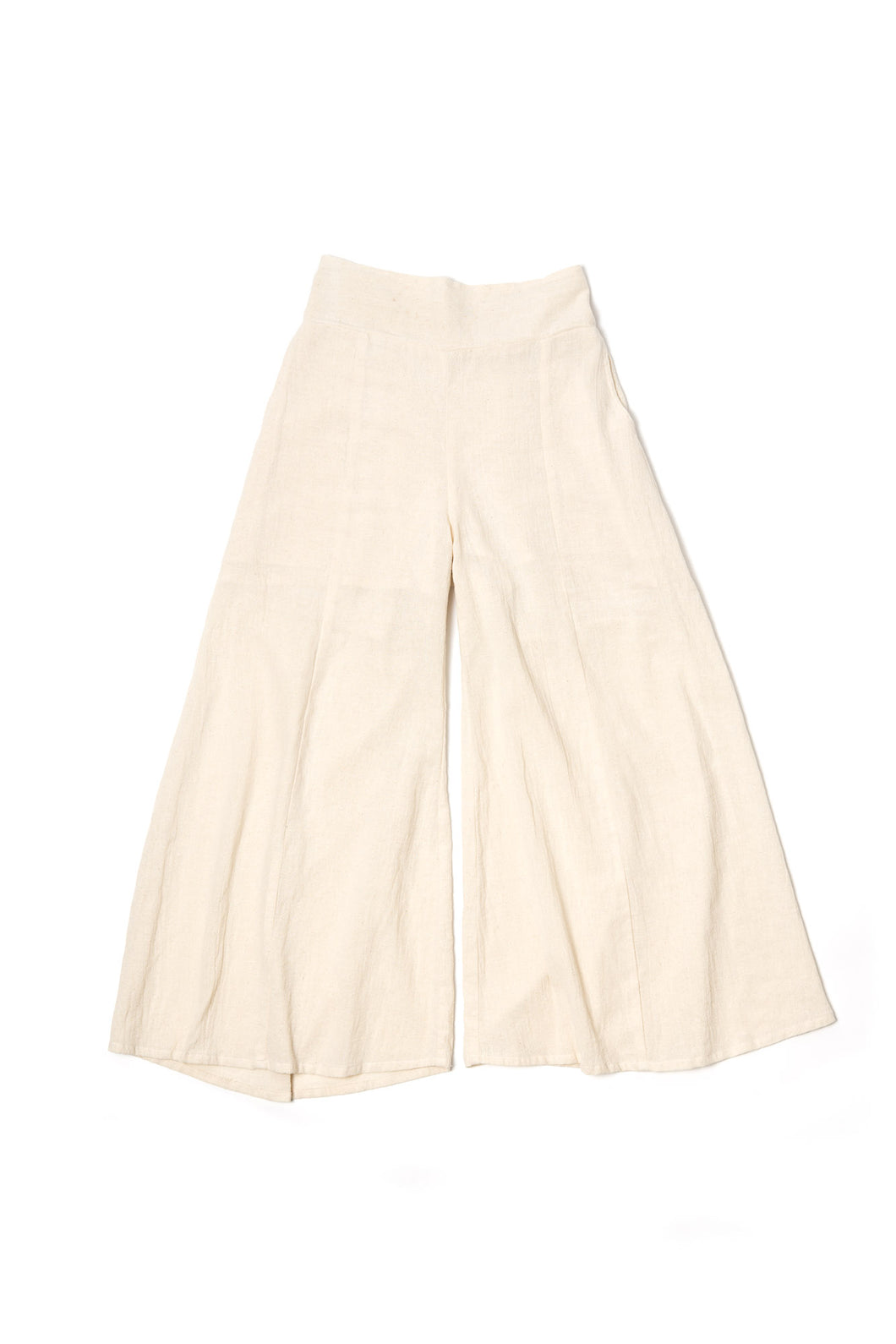 Breathe Wide-leg Pants- Natural