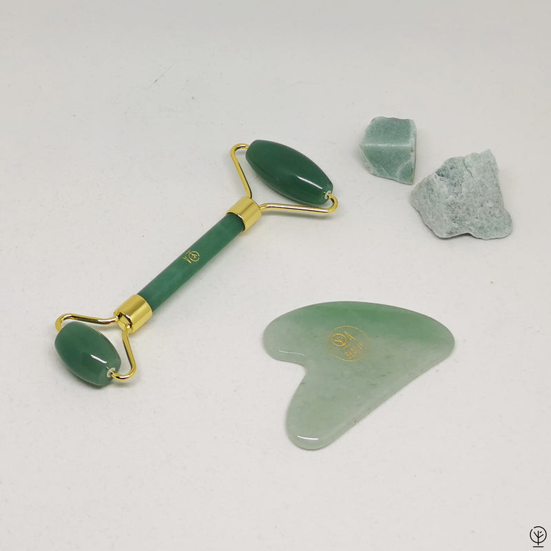 Green Aventurine Heart Gua-Sha Massage | Anti Inflammatory