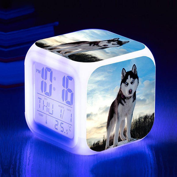 Husky Cube Digital Clock - TOV Collection