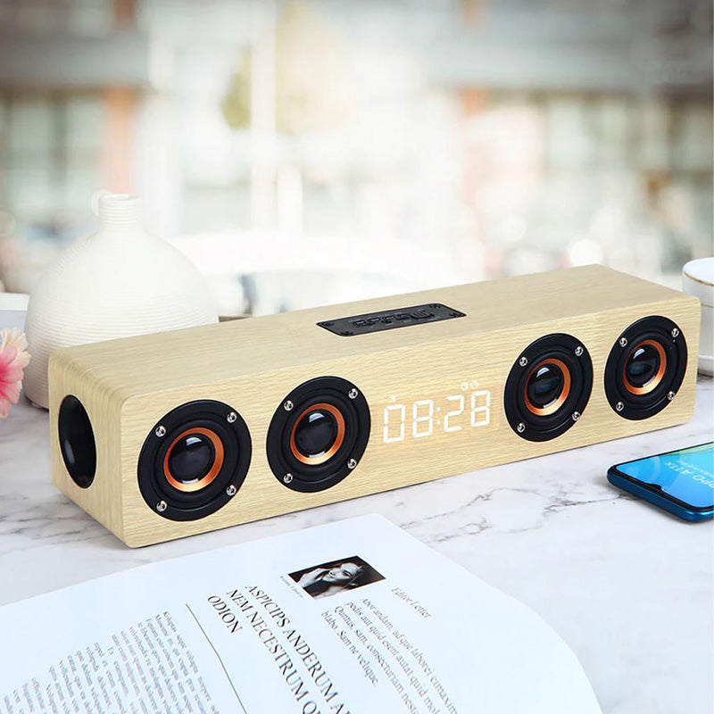 Wooden Bluetooth Sound Bar