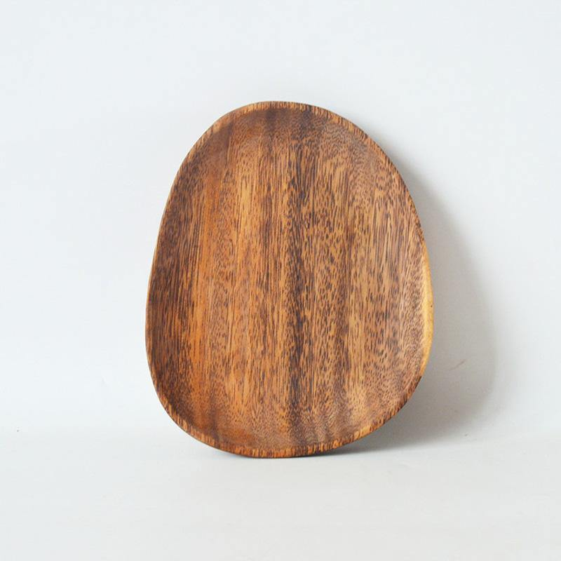 "Rustic Acacia Irregular 6.25"" Platter - TOV Collection"