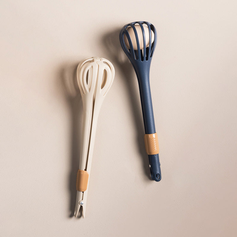 3in1 Whisk With Tongs