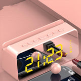 Mirror Smart Clock with Phone Attachment