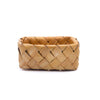 Assorted Wood Chip Square Basket