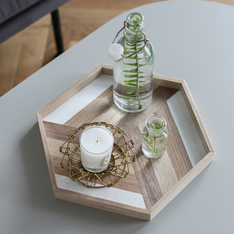 Boho Hexagon Combi Wood Tray