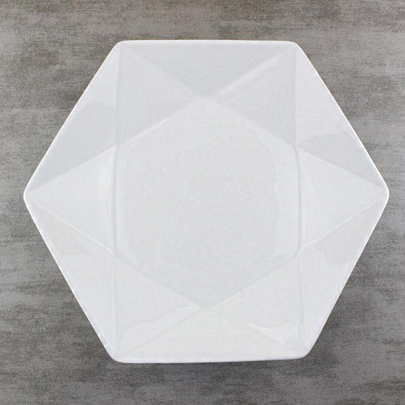 Hexagon Star-Geometric Dinner Plate