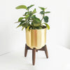 Logam Cylinder Planter With Stand