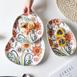 Batèk Floral Oval Plate - TOV Collection