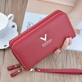 Phone Purses Women Wallets Big Female Purse Leather Brand Retro - HYM Store