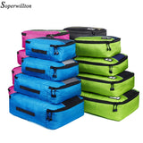 Soperwillton  Travel Bag  210 D Polyester 4 5 8 Pieces Packing Cubes - HYM Store