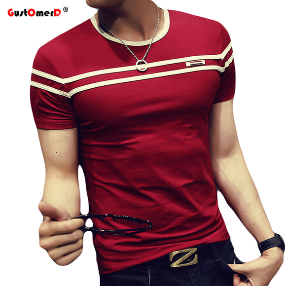 GustOmerD 2018 T-Shirt Men Solid Color T Shirt Man's Fashion T shirt - HYM Store