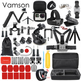 Vamson for Gopro Accessories Set for go pro hero 8 7 6 5 4 kit 3 way selfie stick