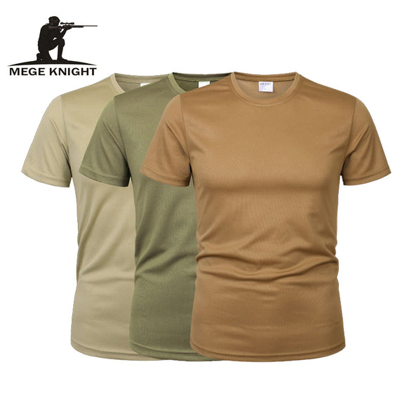 MEGE 3 Pcs/2 Pcs Men Camouflage Tactical T Shirt Army Military ShortSleeve - HYM Store
