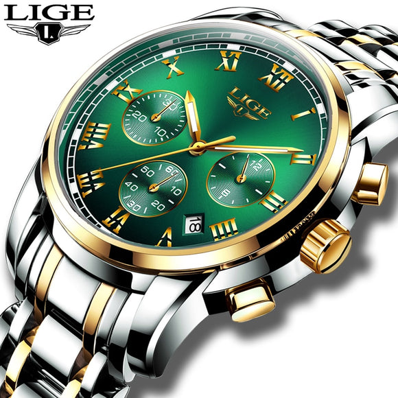 Relojes Hombre 2020 LIGE New Watches Men Luxury Brand Chronograph - HYM Store