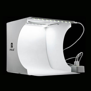 Mini Folding Lightbox Photography Photo Studio Softbox 2 Panel LED Light Soft Box