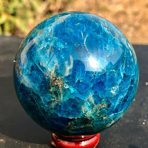 45-50MM Natural blue apatite stone sphere crystal reiki healing ball - HYM Store